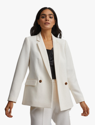 Ivory Double Breasted Jacket0