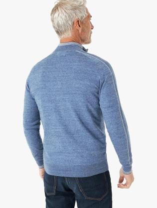 Cotton Zip Through Arm Stripe Cardigan1