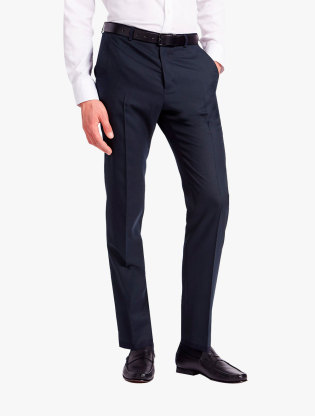 Regular Fit Wool Blend Flat Front Trousers0