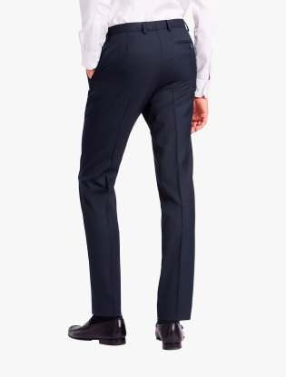 Regular Fit Wool Blend Flat Front Trousers1
