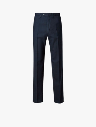 Regular Fit Wool Blend Flat Front Trousers2