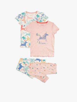 2 Pack Pure Cotton Unicorn Pyjama Sets2