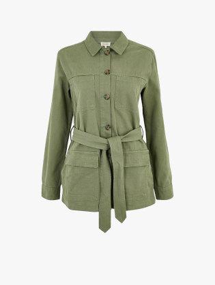 Cotton Belted Utility Jacket2