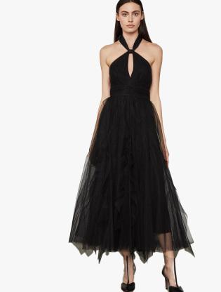 Tulle Tie-Neck Dress0