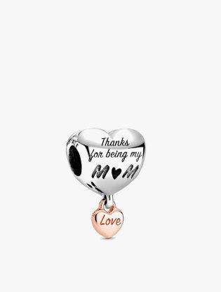 Love You Mom Heart Charm0