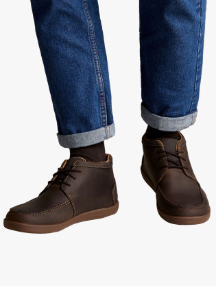 Clarks Un Lisbon Up Men Boots - Brown6