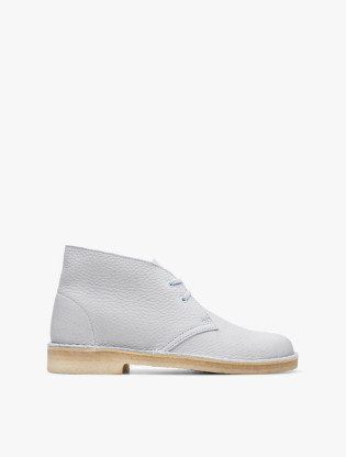Desert Boot. Light Blue Leather0