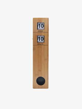 Stainless Auto Flip Clock with Pendulum0