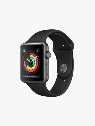 Apple Watch Series 3 GPS 42MM Space Gray Aluminum Sport Band0