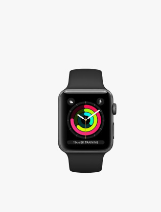 Apple Watch Series 3 GPS 42MM Space Gray Aluminum Sport Band1