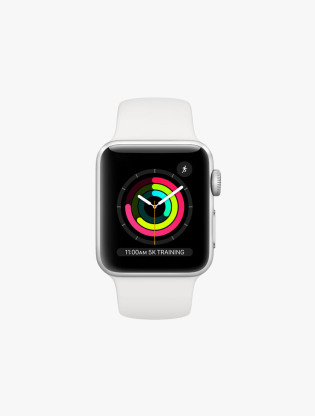 Apple Watch Series 3 GPS 38MM Silver Aluminum Case White Sport Band1