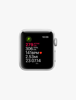 Apple Watch Series 3 GPS 38MM Silver Aluminum Case White Sport Band3